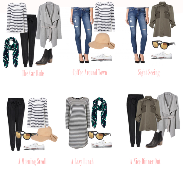 weekend away outfit options