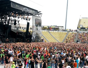 Rock on the Range 2013. They knew how to mosh. It looked like so much fun.