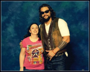 Jason Momoa and I. He is really that tall. I'm really that short. It was sooo real.