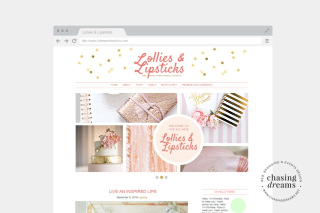 Lollies & Lipstick: Blog Mockup