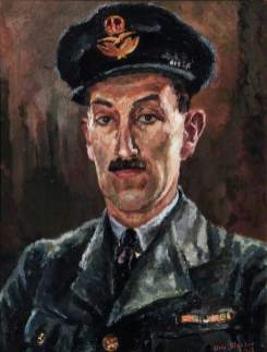 Blacker, Elva Joan; Portrait of an RAF Officer; Royal Air Force Museum; http://www.artuk.org/artworks/portrait-of-an-raf-officer-135667