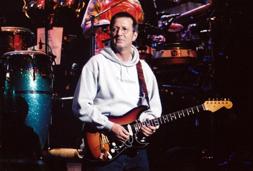 Eric Clapton playing a Fender SRV Stratocaster