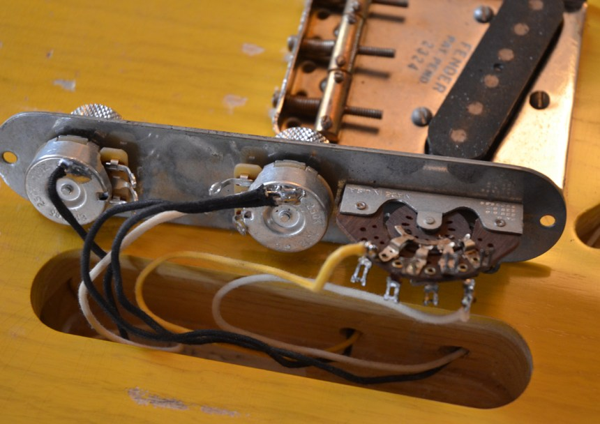 Wiring the aged control plate