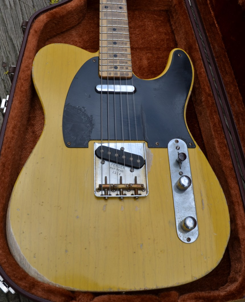 Roy Buchanan Nancy Tribute Telecaster Project Chasingguitars 1953 Wiring Diagram The Dome Knobs Are Real Parts As Is 3 Way Switch