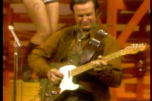 Don playing Gold Telecaster on Hee Haw