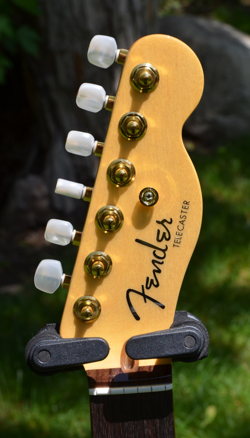 Fender neck with gold elite tuners