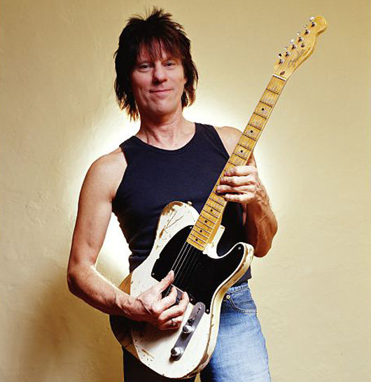 Jeff Beck with iconic Esquire