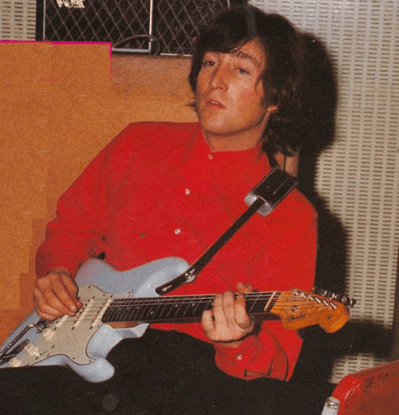 John playing his first Strat