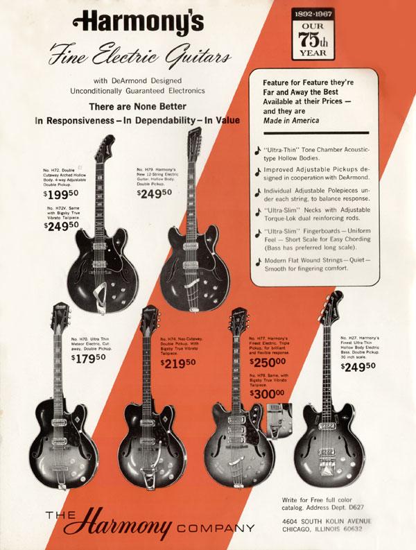 1966 harmony h78 red burst chasingguitars. Black Bedroom Furniture Sets. Home Design Ideas