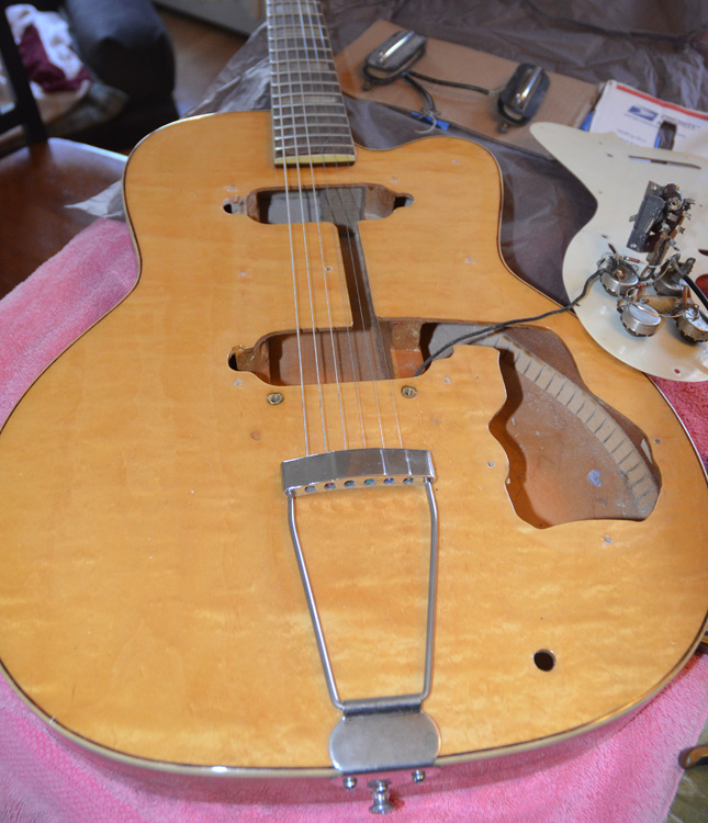 1950s Kay Thin Twin K-161 Guitar Project | ChasingGuitars on