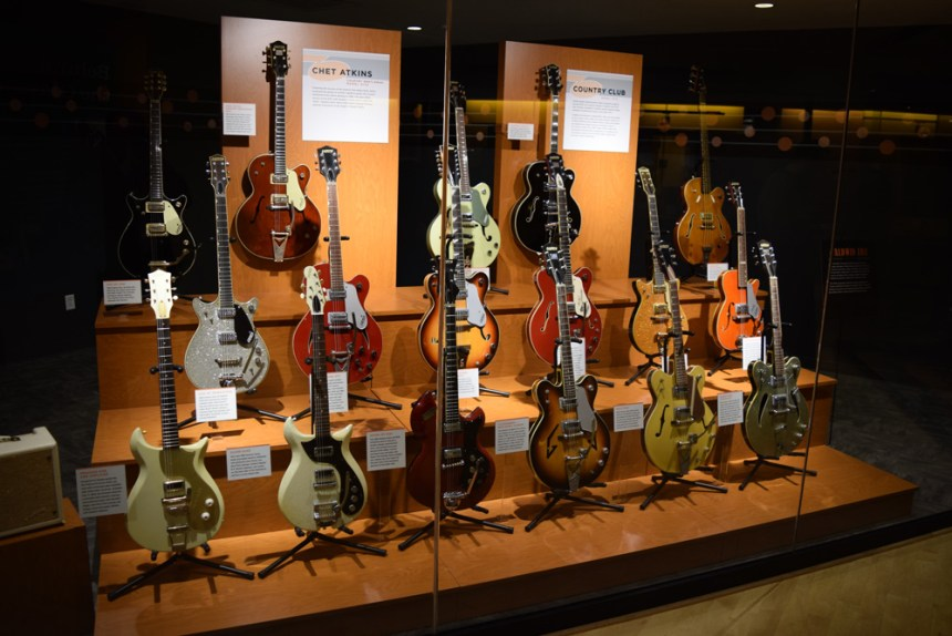 Several rare and one-of-a-kind vintage Gretsch guitars from the 1960s on display at the Country Music Hall of Fame and Museum - Bachman Collection