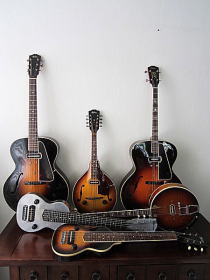 Some early Gibson electric instruments