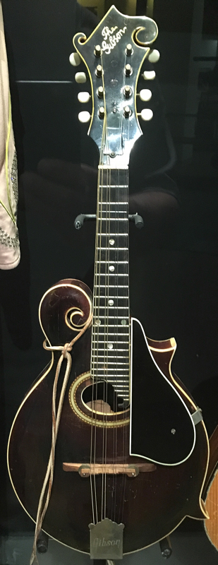 Left Frizzell's F-Style Gibson Mandolin