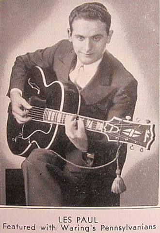 Les Paul  playing Super 400 in 1939