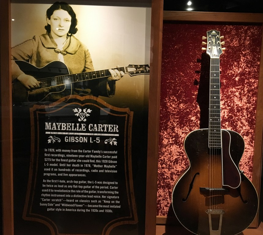 Maybelle Carter's Gibson  L5 at the Country Music Hall of Fame in Nashville