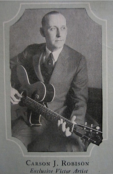 Carson Robison featured in the 1924 Gibson catalog with a Style 0