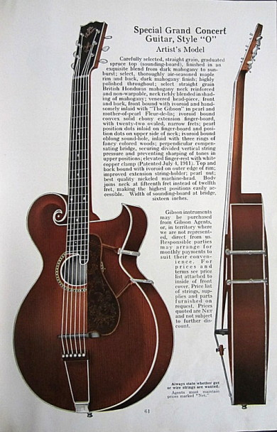 Gibson Style 0 in their 1921 catalog