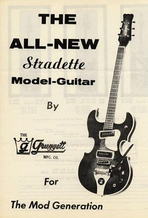 """Bill Gruggett's vintage """"Stradette""""  advertising flyer ca. 1968"""