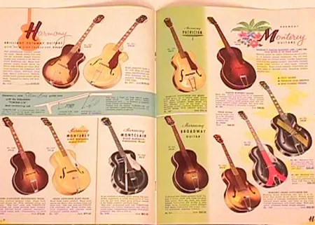 Vintage Harmony Guitars Catalog