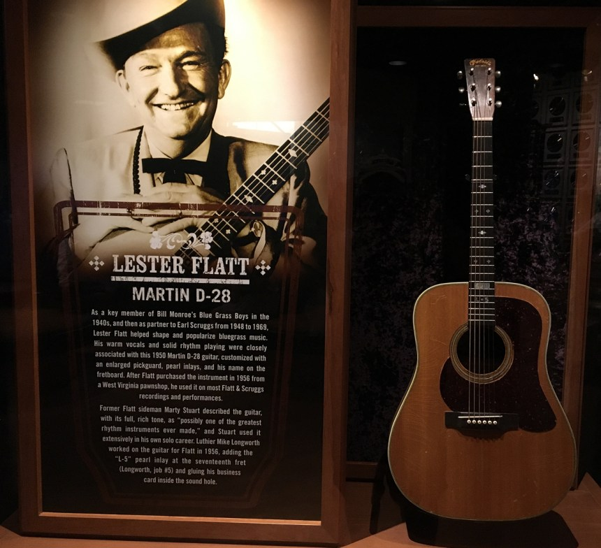 Lester Flatt's Martin D-28 at the Country Music Hall of Fame in Nashville
