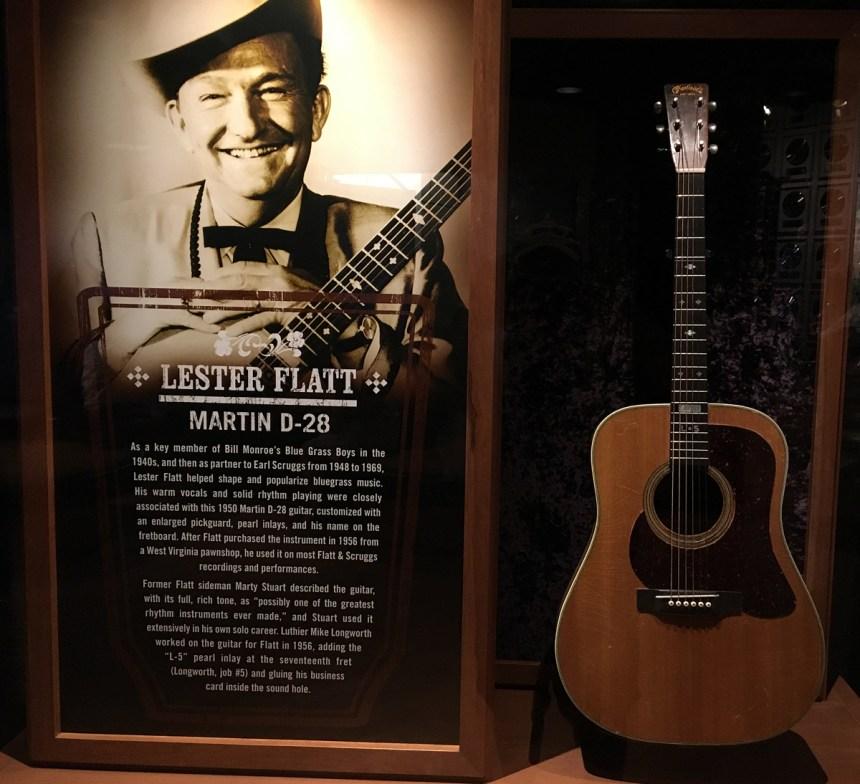 Lester Flatt's Martin D-28 at the Country Music Hall of Fame in Nashville