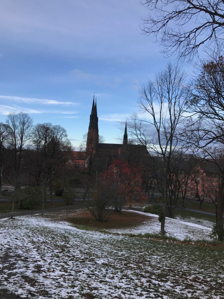 autumn road trip uppsala cathedral