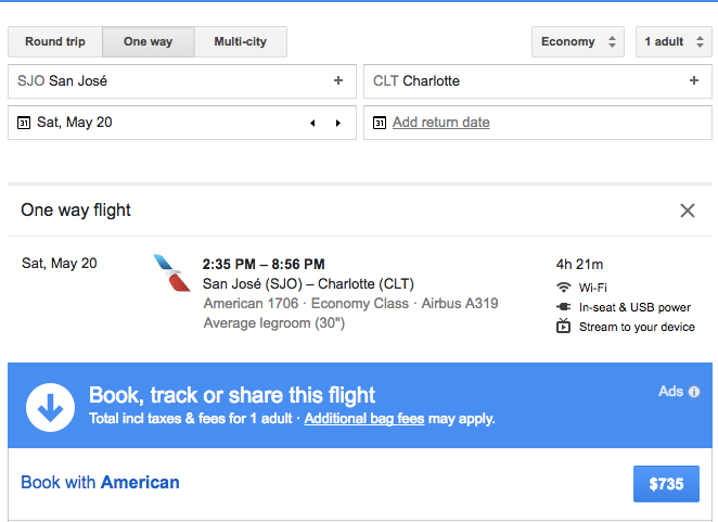 Same Flight $735