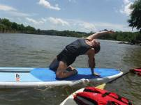 So love paddle board yoga.
