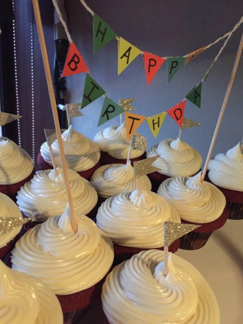 Red Velvet Bday Cupcakes