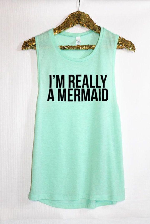 Mermaid Muscle Tank /Hello Apparel