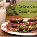 No Bake Cocoa Wreath Cookies