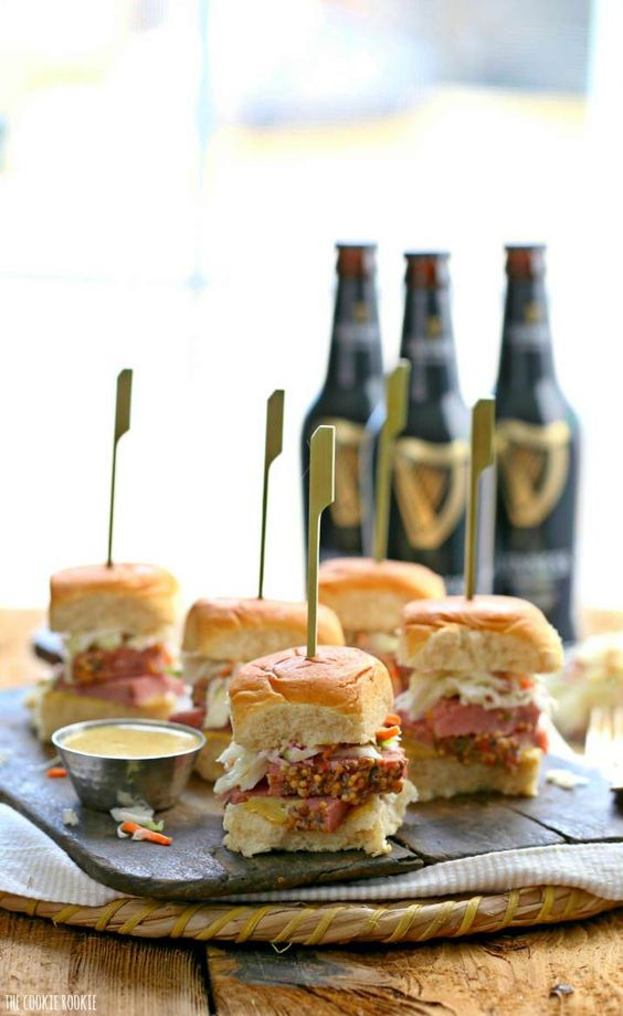 Favoring Friday Corned Beef Sliders from The Cookie Rookie