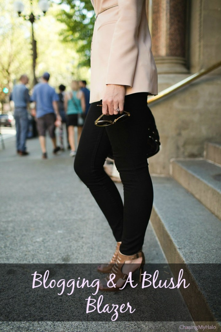 Blogging and a Blush Blazer