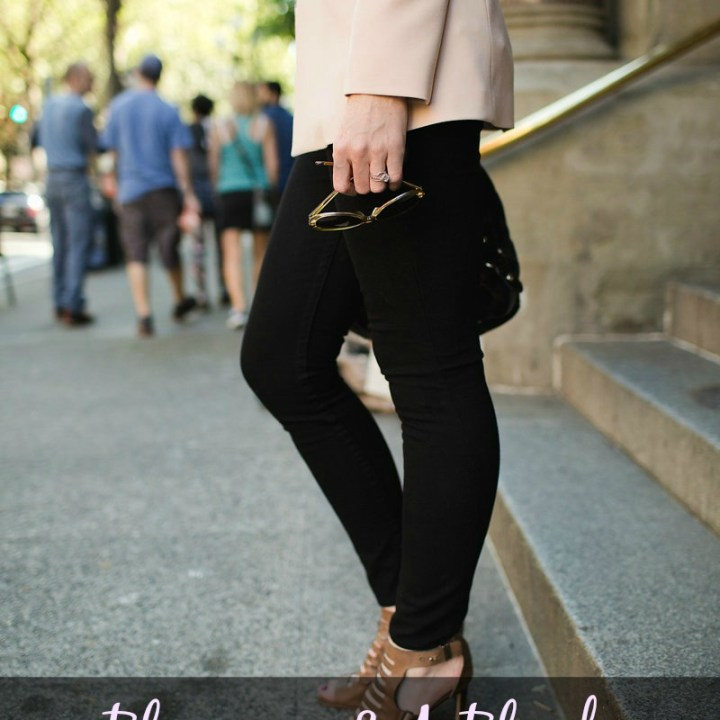 Blogging and a Blush Blazer