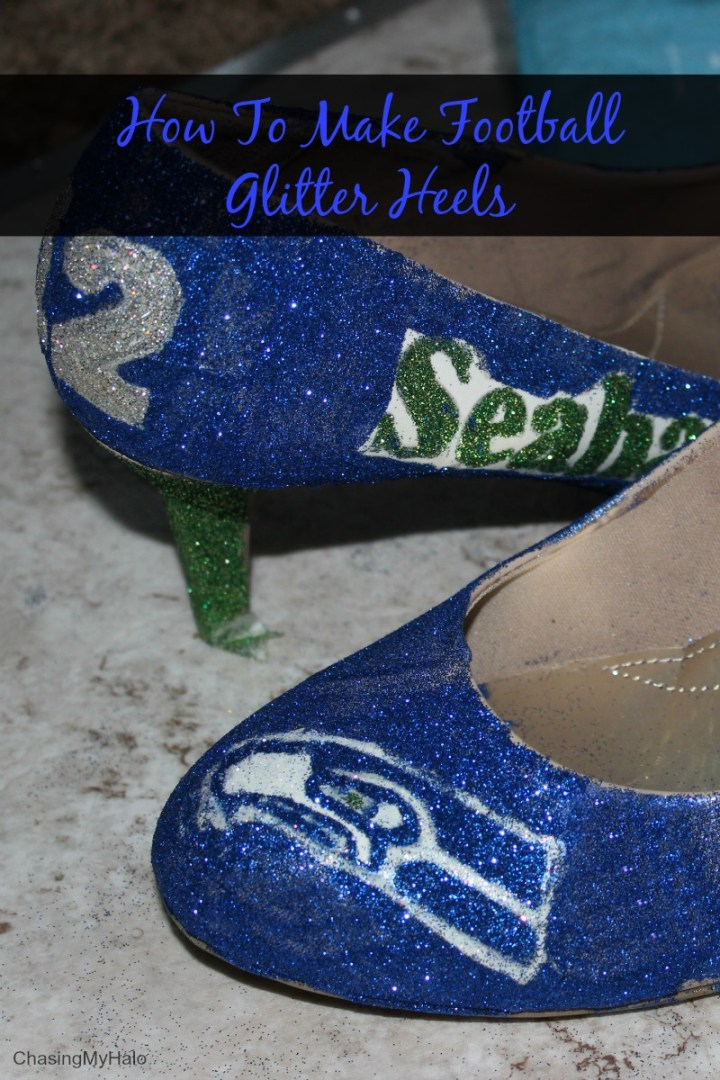 How to Make Football Glitter Heels