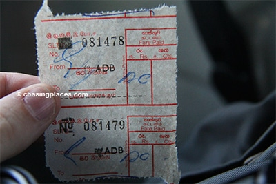 At the time of writing bus tickets to and from the Colombo Airport to Colombo costed 120 rupees