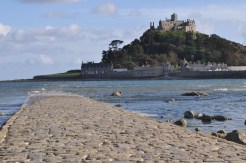 St Michael's Mount surrounded by the incoming tide