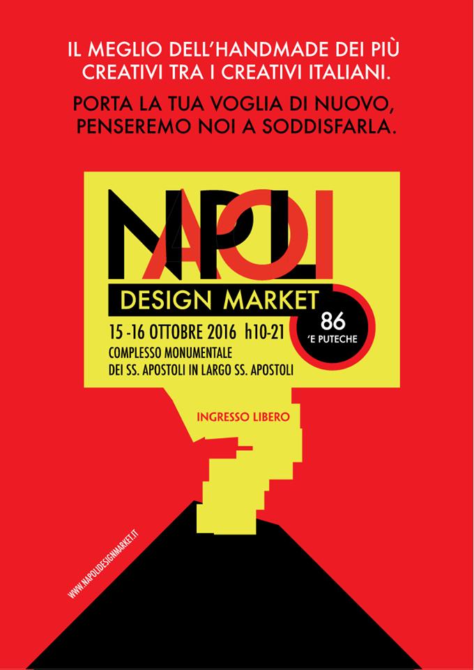 locandina del napoli design market
