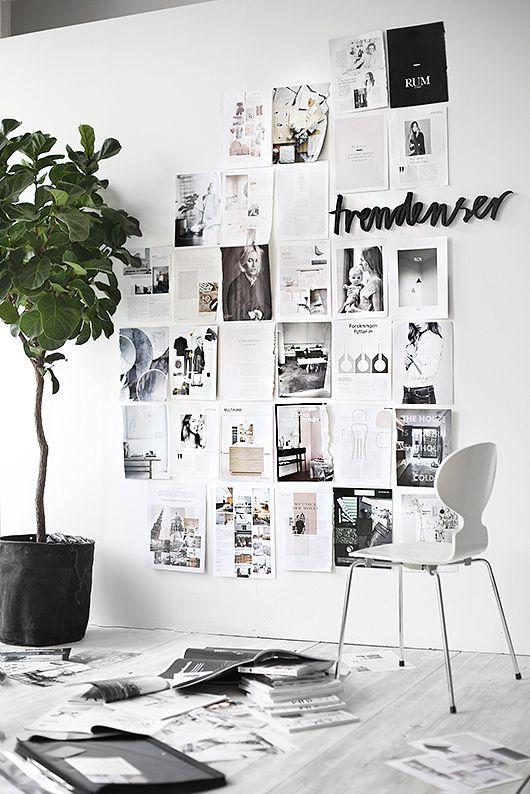 parete con immagini