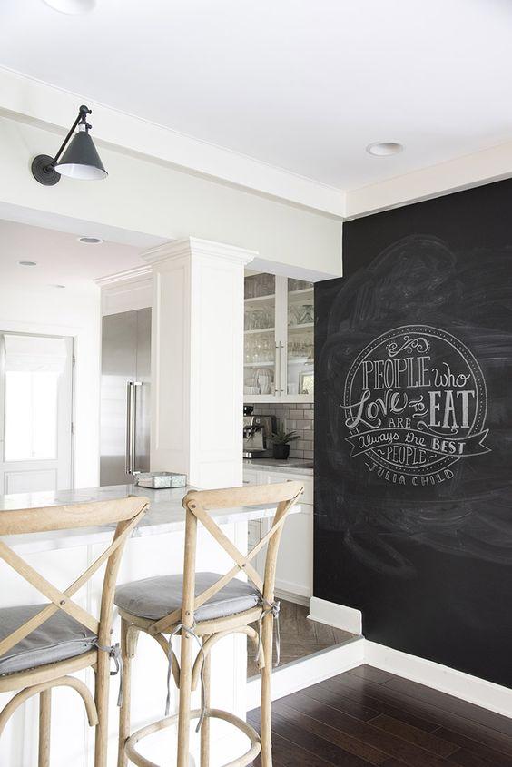 pittura lavagna in cucina