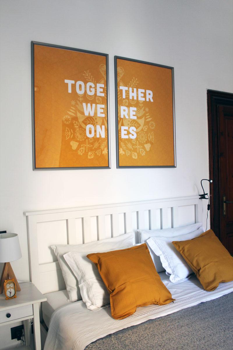 quadri per la parete dietro il letto