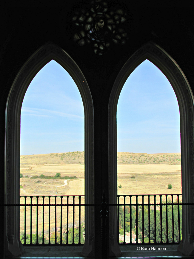 Inside the Alcazar looking out