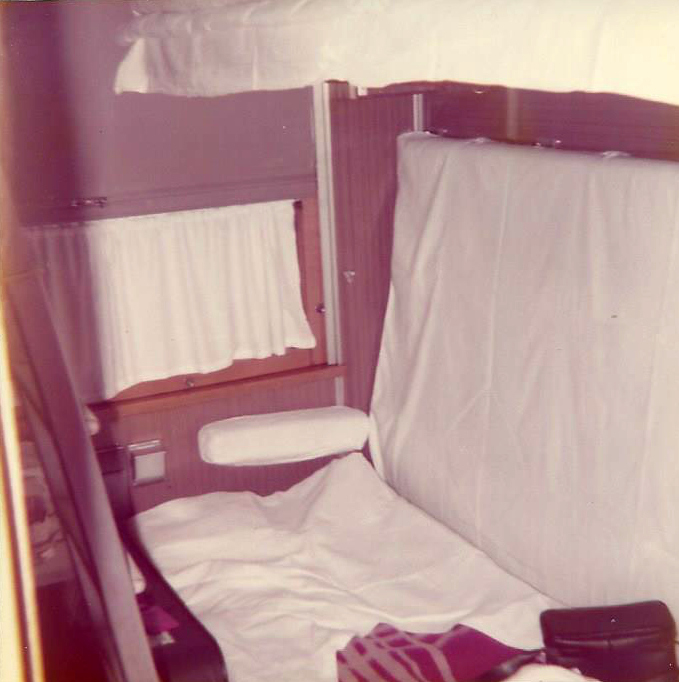 Train compartment- Helsinki to Leningrad