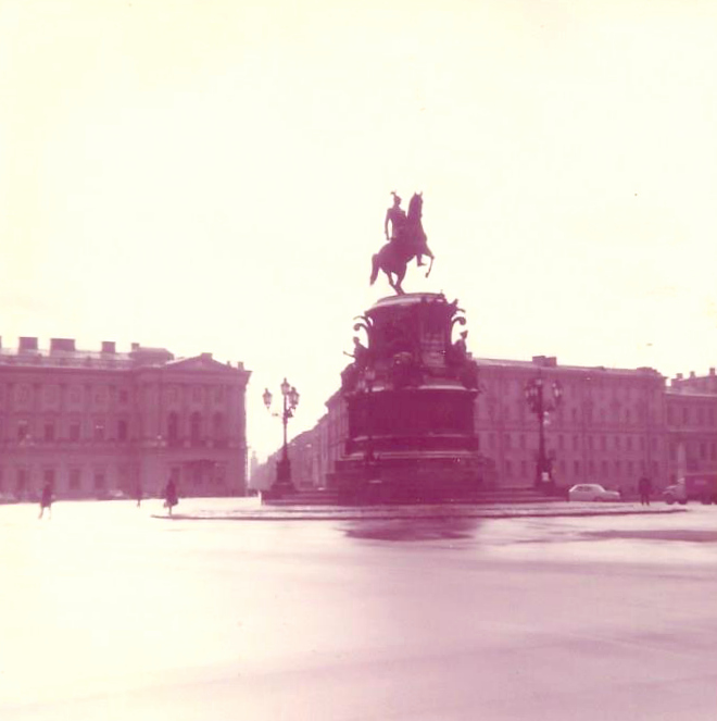St. Isaac's Square in Leningrad
