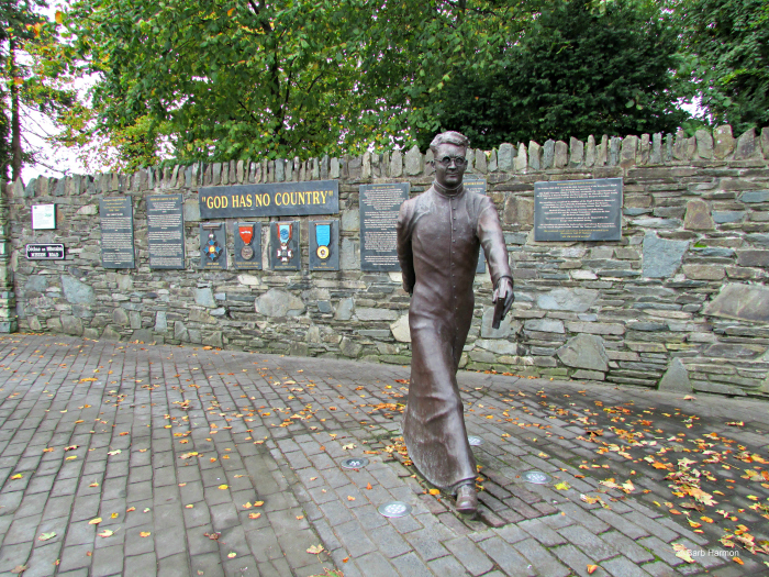 Statue of Monsignor O'Flaherty in Killarney, Ireland