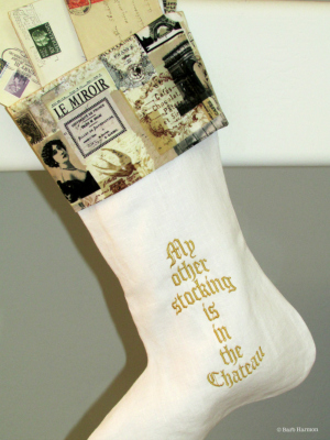 My other stocking is in the Chateau
