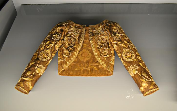 embroidered gold bolero- YSL Museé