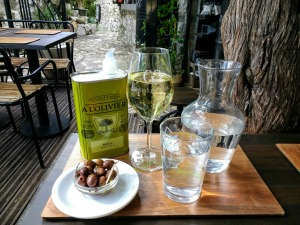 Olives and wine in Eze, France