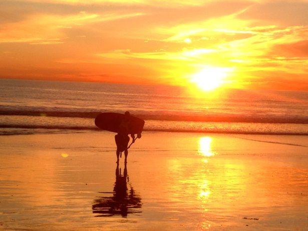 sunset oceanside tim kayak