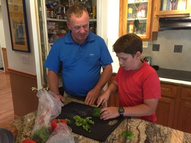 mark and hunter cooking
